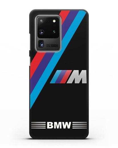 Чехол с логотипом BMW M Series силикон черный для Samsung Galaxy S20 Ultra [SM-G988B]