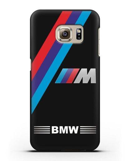 Чехол с логотипом BMW M Series силикон черный для Samsung Galaxy S6 [SM-G920F]