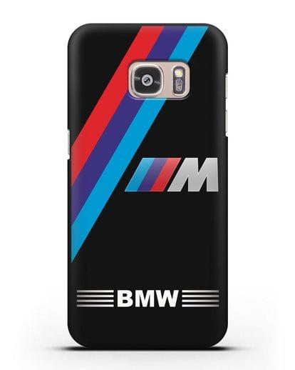 Чехол с логотипом BMW M Series силикон черный для Samsung Galaxy S7 Edge [SM-G935F]