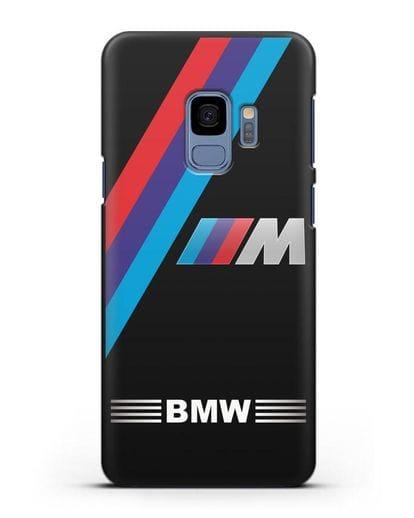 Чехол с логотипом BMW M Series силикон черный для Samsung Galaxy S9 [SM-G960F]