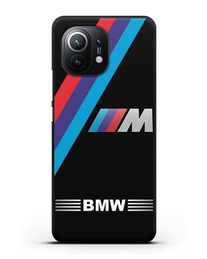 Чехол с логотипом BMW M Series силикон черный для Xiaomi Mi 11