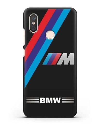 Чехол с логотипом BMW M Series силикон черный для Xiaomi Mi 8