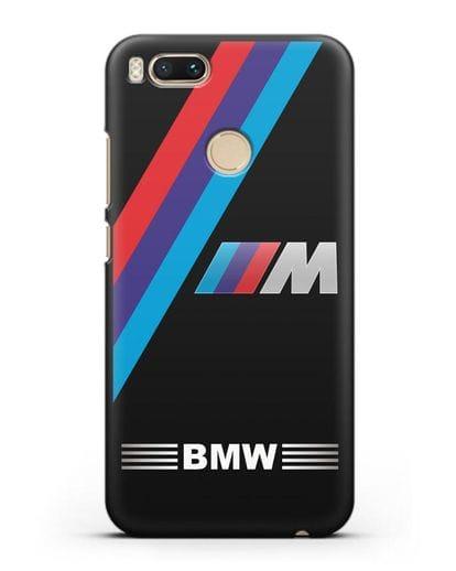 Чехол с логотипом BMW M Series силикон черный для Xiaomi Mi A1
