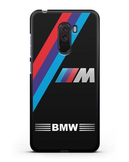 Чехол с логотипом BMW M Series силикон черный для Xiaomi Pocophone F1