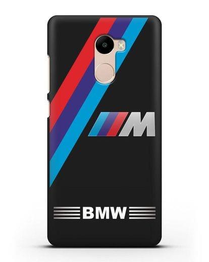 Чехол с логотипом BMW M Series силикон черный для Xiaomi Redmi 4