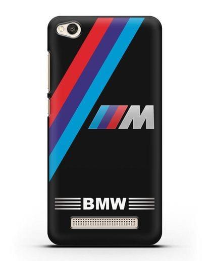 Чехол с логотипом BMW M Series силикон черный для Xiaomi Redmi 4A