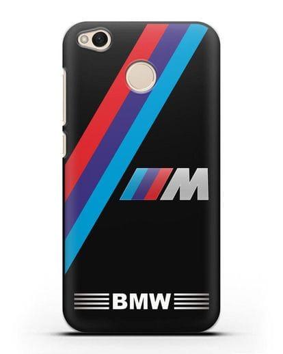 Чехол с логотипом BMW M Series силикон черный для Xiaomi Redmi 4X