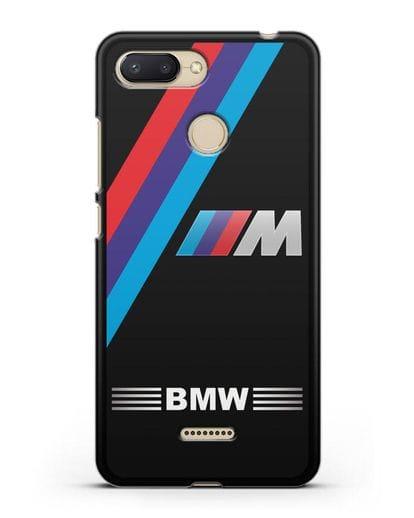 Чехол с логотипом BMW M Series силикон черный для Xiaomi Redmi 6