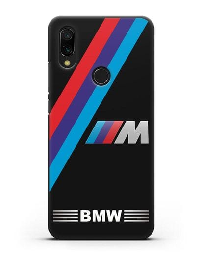 Чехол с логотипом BMW M Series силикон черный для Xiaomi Redmi 7