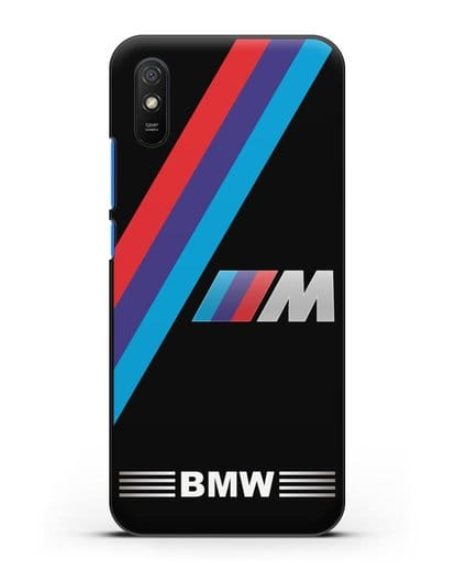 Чехол с логотипом BMW M Series силикон черный для Xiaomi Redmi 9A