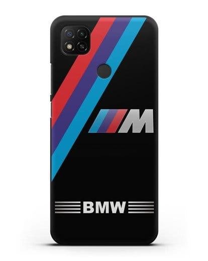 Чехол с логотипом BMW M Series силикон черный для Xiaomi Redmi 9С