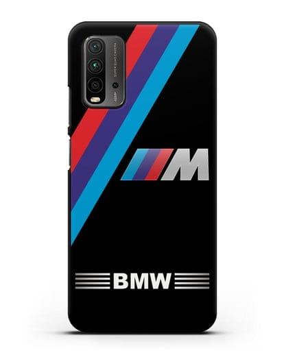 Чехол с логотипом BMW M Series силикон черный для Xiaomi Redmi 9T