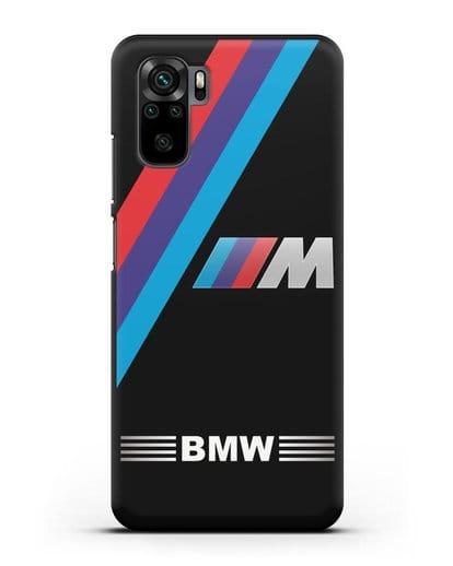 Чехол с логотипом BMW M Series силикон черный для Xiaomi Redmi Note 10