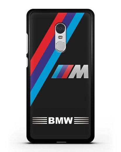 Чехол с логотипом BMW M Series силикон черный для Xiaomi Redmi Note 4