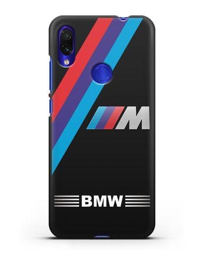 Чехол с логотипом BMW M Series силикон черный для Xiaomi Redmi Note 7