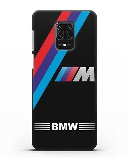 Чехол с логотипом BMW M Series силикон черный для Xiaomi Redmi Note 9S
