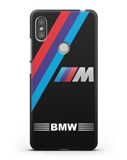 Чехол с логотипом BMW M Series силикон черный для Xiaomi Redmi S2