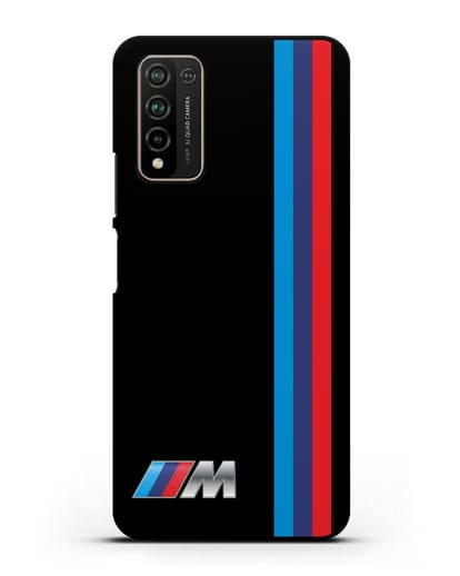 Чехол BMW M Perfomance силикон черный для Honor 10X Lite