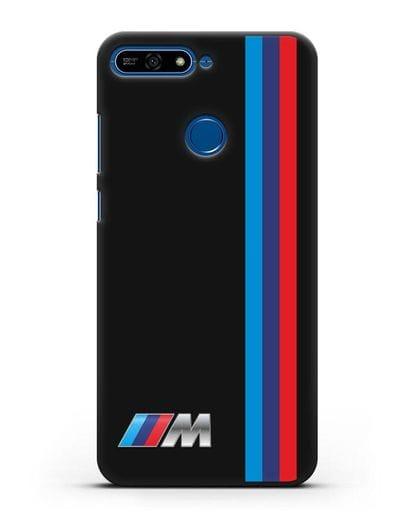 Чехол BMW M Perfomance силикон черный для Honor 7А Pro