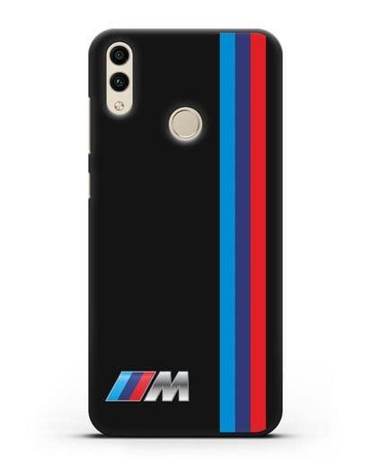 Чехол BMW M Perfomance силикон черный для Honor 8C