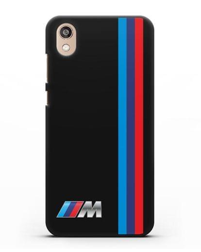 Чехол BMW M Perfomance силикон черный для Honor 8S