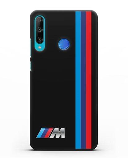 Чехол BMW M Perfomance силикон черный для Honor 9C