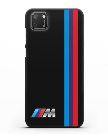 Чехол BMW M Perfomance силикон черный для Honor 9S