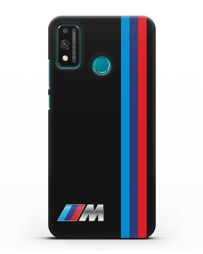 Чехол BMW M Perfomance силикон черный для Honor 9X lite