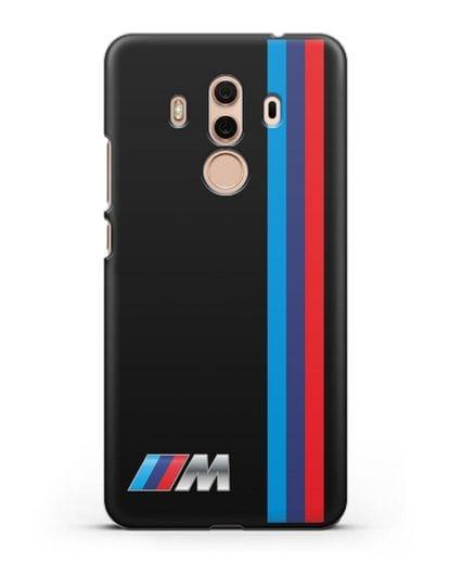 Чехол BMW M Perfomance силикон черный для Huawei Mate 10 Pro