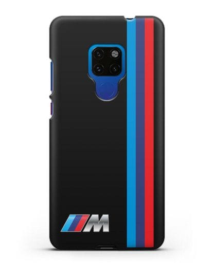 Чехол BMW M Perfomance силикон черный для Huawei Mate 20