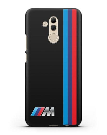 Чехол BMW M Perfomance силикон черный для Huawei Mate 20 Lite