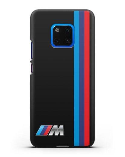Чехол BMW M Perfomance силикон черный для Huawei Mate 20 Pro