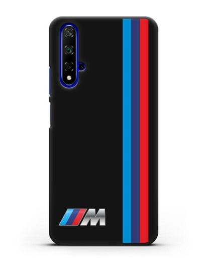 Чехол BMW M Perfomance силикон черный для Huawei Nova 5T