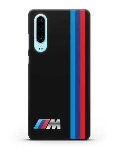 Чехол BMW M Perfomance силикон черный для Huawei P30