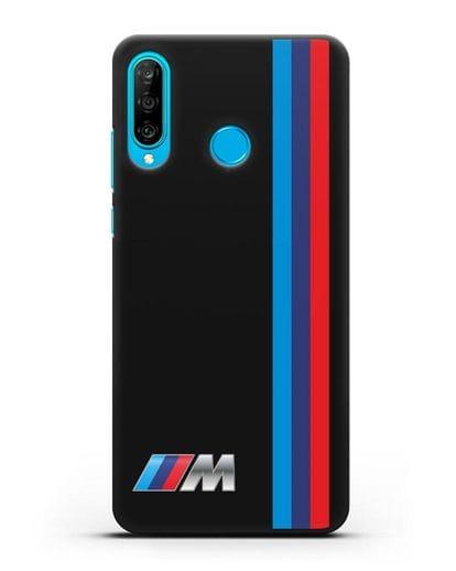 Чехол BMW M Perfomance силикон черный для Huawei P30 Lite