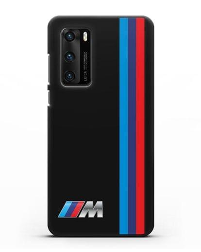 Чехол BMW M Perfomance силикон черный для Huawei P40