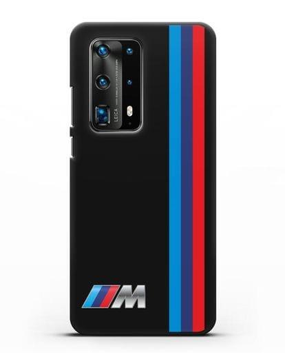 Чехол BMW M Perfomance силикон черный для Huawei P40 Pro