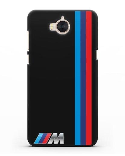 Чехол BMW M Perfomance силикон черный для Huawei Y5 2017