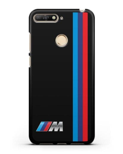 Чехол BMW M Perfomance силикон черный для Huawei Y6 Prime 2018