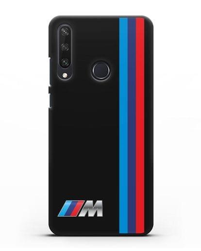 Чехол BMW M Perfomance силикон черный для Huawei Y6P