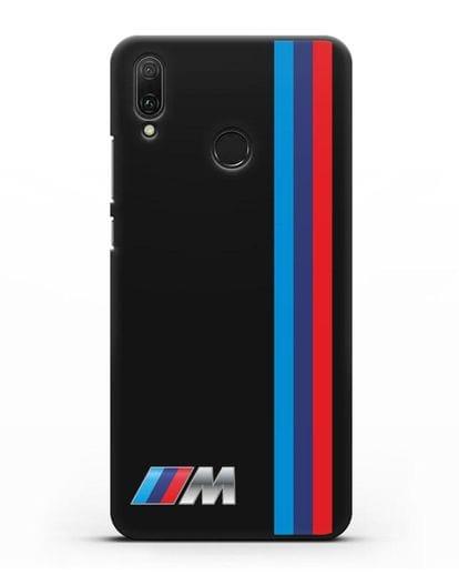Чехол BMW M Perfomance силикон черный для Huawei Y9 2019