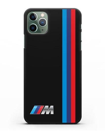 Чехол BMW M Perfomance силикон черный для iPhone 11 Pro