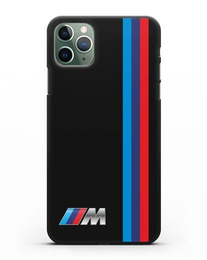 Чехол BMW M Perfomance силикон черный для iPhone 11 Pro Max