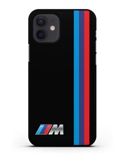 Чехол BMW M Perfomance силикон черный для iPhone 12