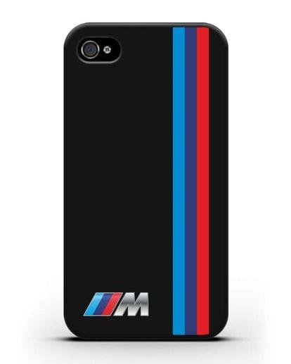 Чехол BMW M Perfomance силикон черный для iPhone 4/4s