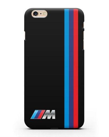 Чехол BMW M Perfomance силикон черный для iPhone 6s Plus