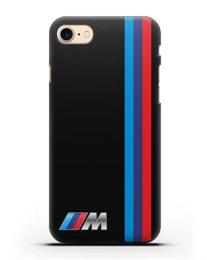 Чехол BMW M Perfomance силикон черный для iPhone 8