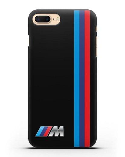 Чехол BMW M Perfomance силикон черный для iPhone 7 Plus