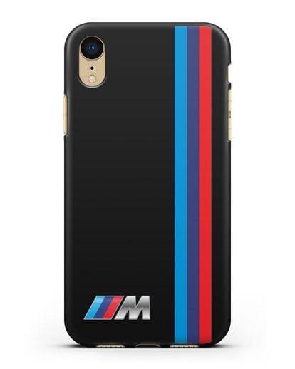 Чехол BMW M Perfomance силикон черный для iPhone XR