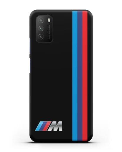Чехол BMW M Perfomance силикон черный для Xiaomi Poco M3